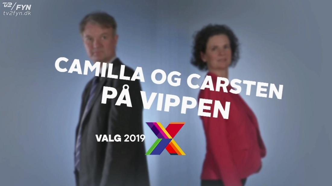 Camilla og Carsten paa vippen